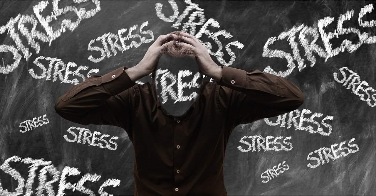 stress, burnout, man